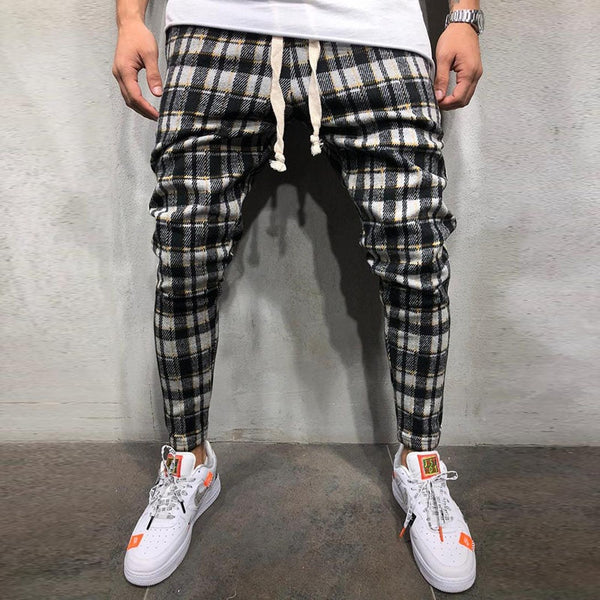 West Louis™ Fashion Plaid Jogger Pants