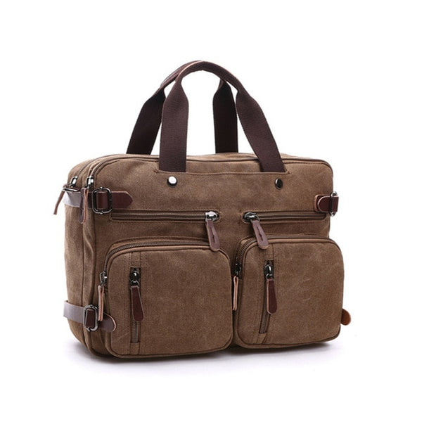 West Louis™ Casual Canvas Briefcase