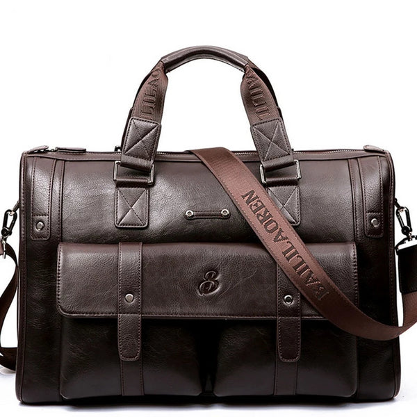 West Louis™ High Capacity Business Leather Briefcase