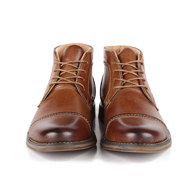 West Louis™ Casual Lace up British Style Boots