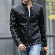 West Louis™ Motorcycle Leather Jacket Black / M - West Louis