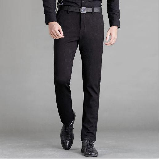 West Louis™ Slim Straight Business Pants Black / 29 - West Louis