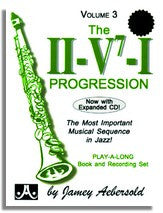 Jamey Aebersold volume 3: II-V7-I Progression (2CD's) NEW BONUS CD !!
