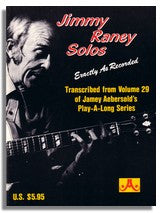 Jimmy Raney Solos from Jamey Aebersold Volume 29 Play Duets with Jimmy Raney