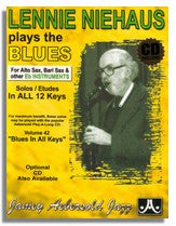 Lennie Niehaus Plays The Blues (Eb) from Jamey Aebersold Volume 42 Blues in all Keys