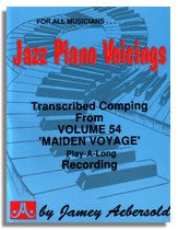 Jamey Aebersold: Piano Voicings from Jamey Aebersold Volume 54 Maiden Voyage