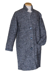 Repeat Buttoned Long Knitted Coat