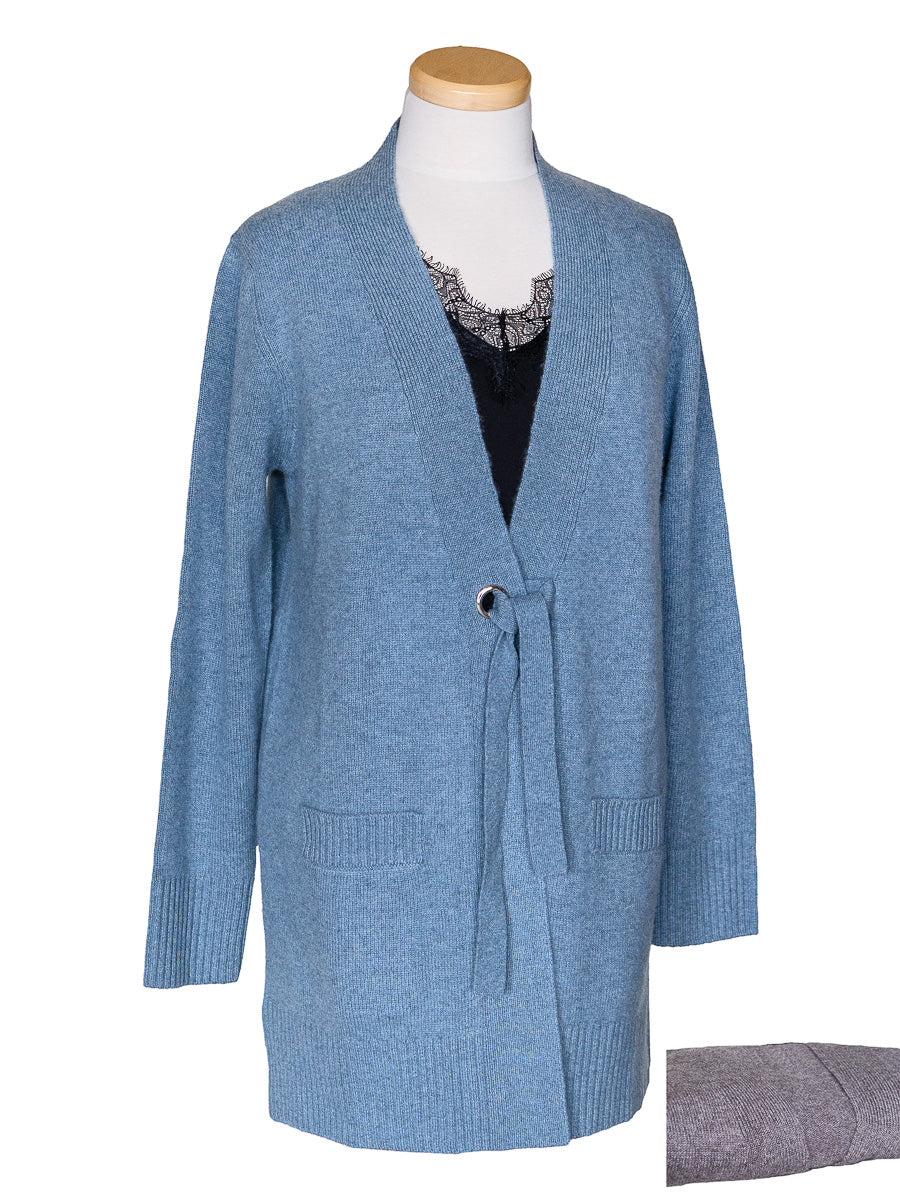 Tie Front Cashmere Cardigan