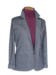 Chevron Dark Grey Blazer
