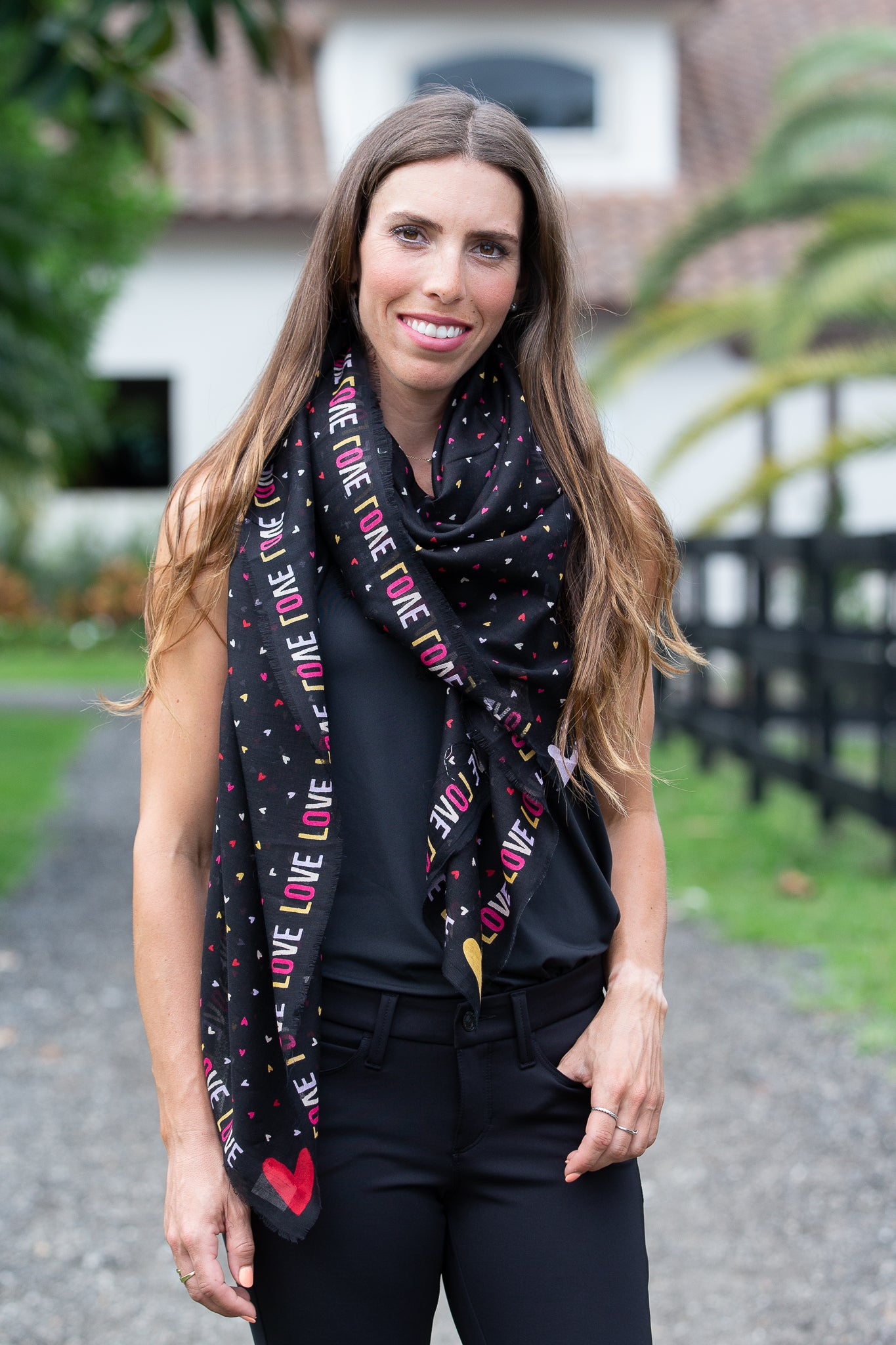 Repeat Heart Squared Scarf
