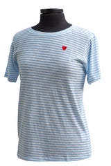 Molly Bracken Light Blue Striped T-shirt