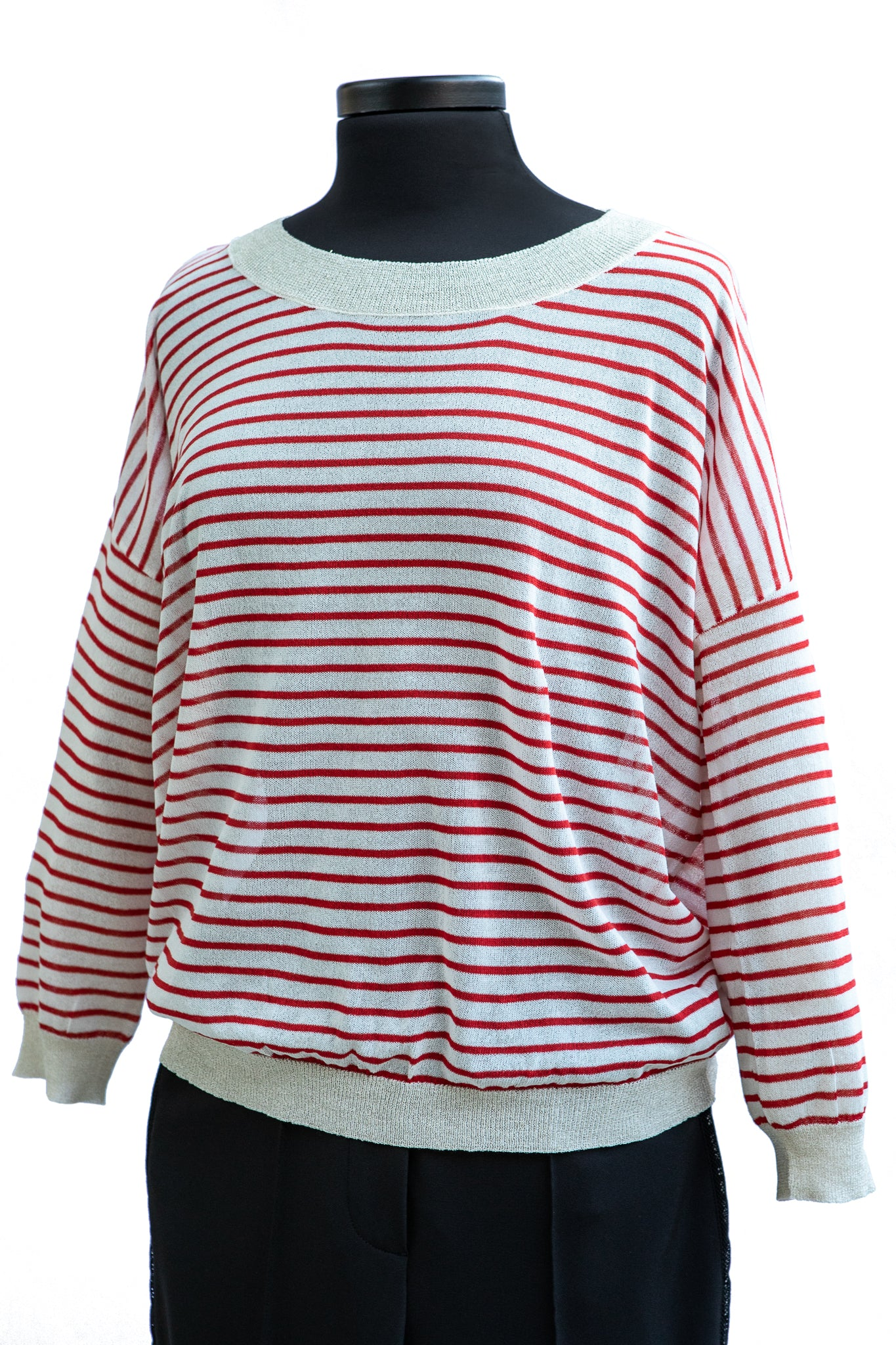Molly Bracken Red Striped Sweater