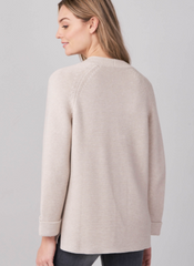 Repeat Ribbed Cotton Knit Cardigan