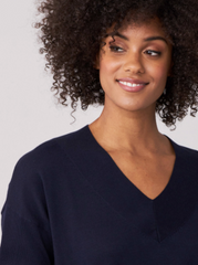 Repeat V-Neck Cotton Blend Pull