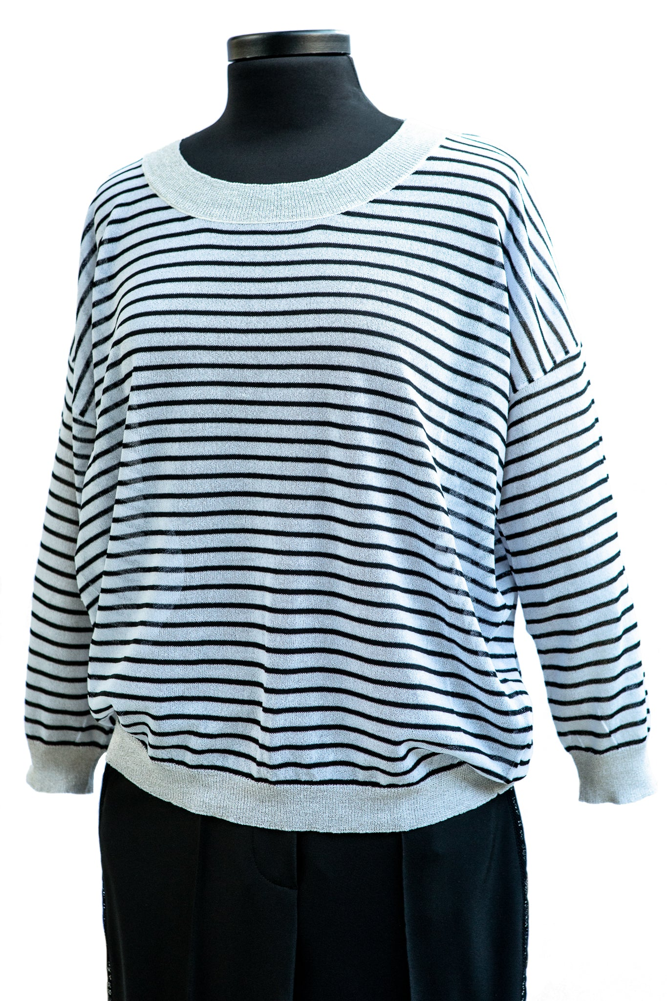 Molly Bracken Black Striped Sweater