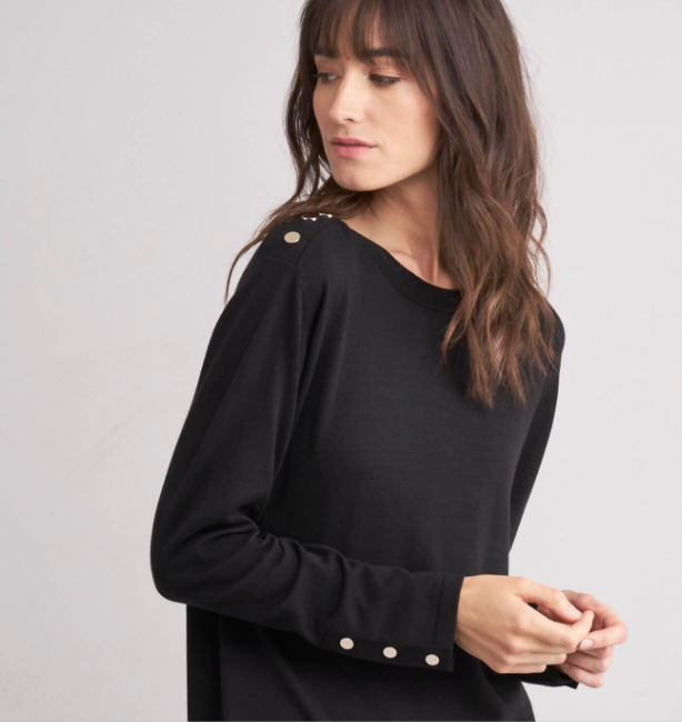 Repeat Black Long Sweater