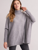 Repeat Oversized Grey Turtle Neck