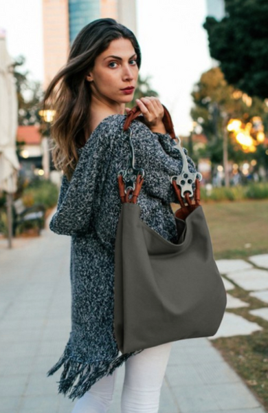 Adi Kissilevich Cotton Canva Hackamore Purse