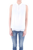 White Sleeveless Top with Flower on the Color