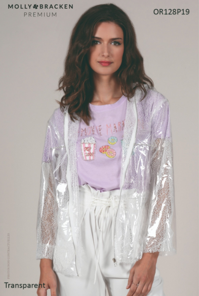 Molly Bracken Transparent Plastic Rain Jacket
