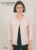 Molly Bracken Pink Woven Jacket