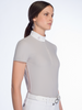 Cavalleria Toscana Sheer Rib Knit S/S Competition Polo