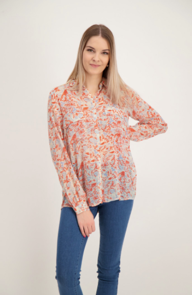 Soya Concept Shirt with flower pattern