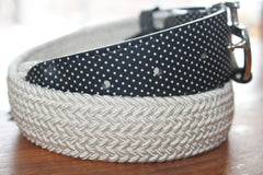 Women's Elastic Belt W/Perforated Leather