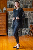 AKKA Legacy  Tulle Zipped Black Cardigan