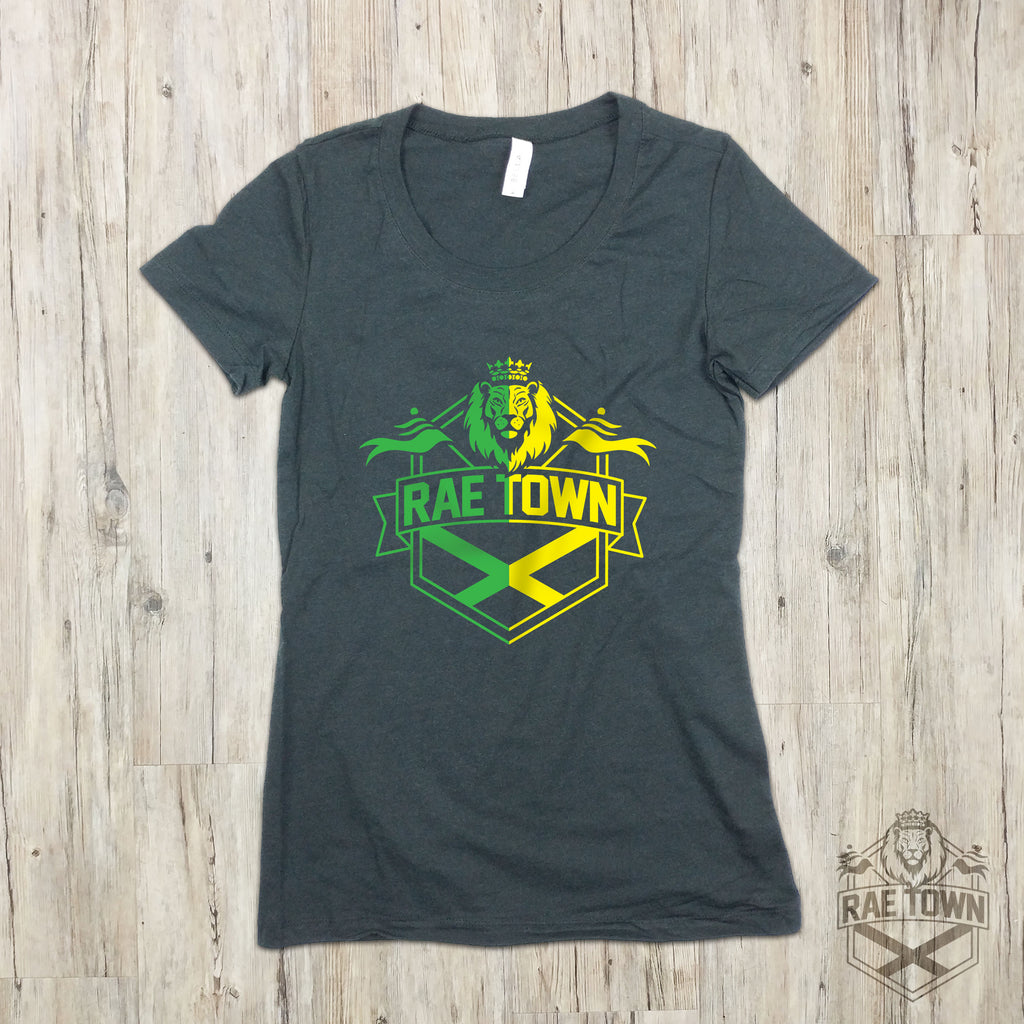 Rae Town Green and Gold Logo