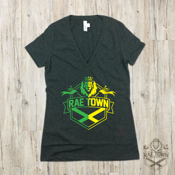 Rae Town Green and Gold Logo | Women's Garments