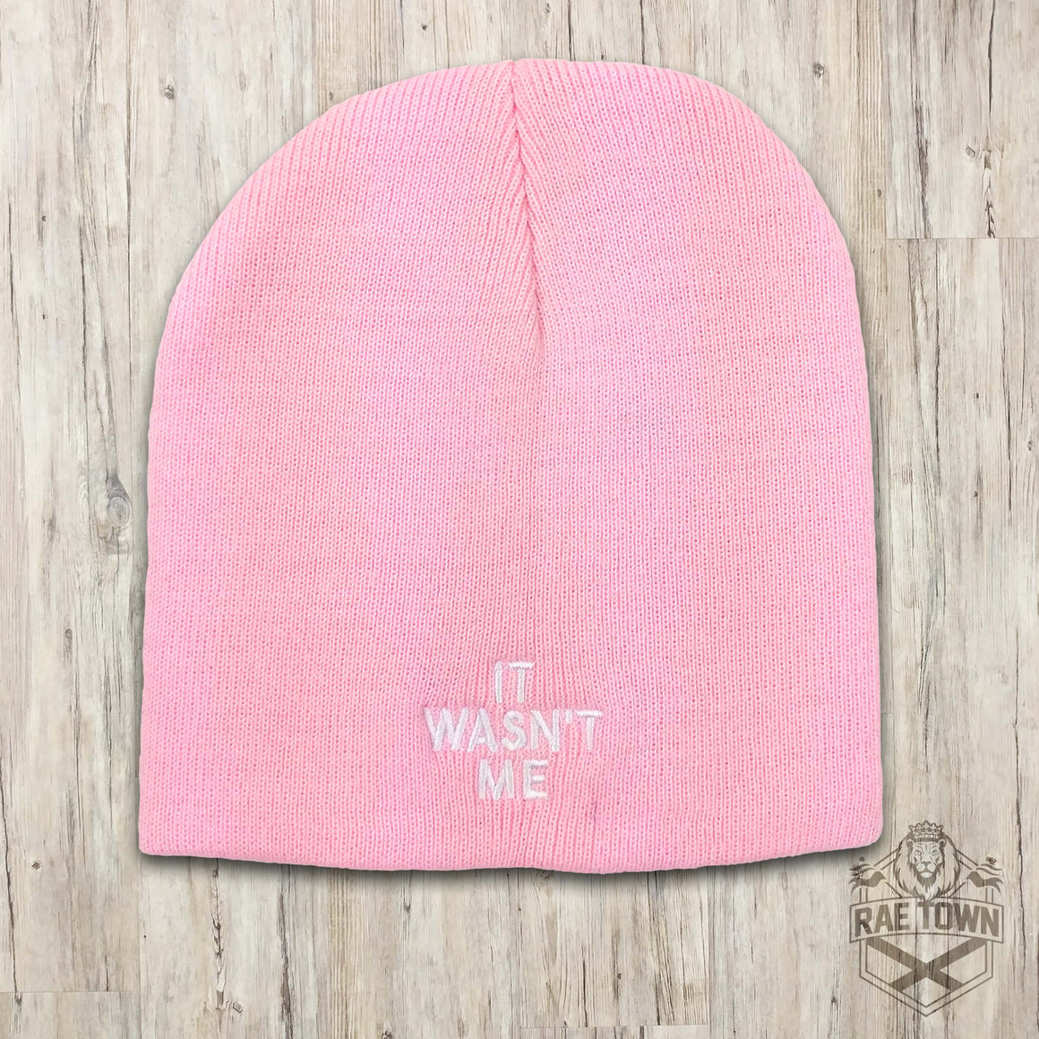 It Wasn't Me Pink Beanie