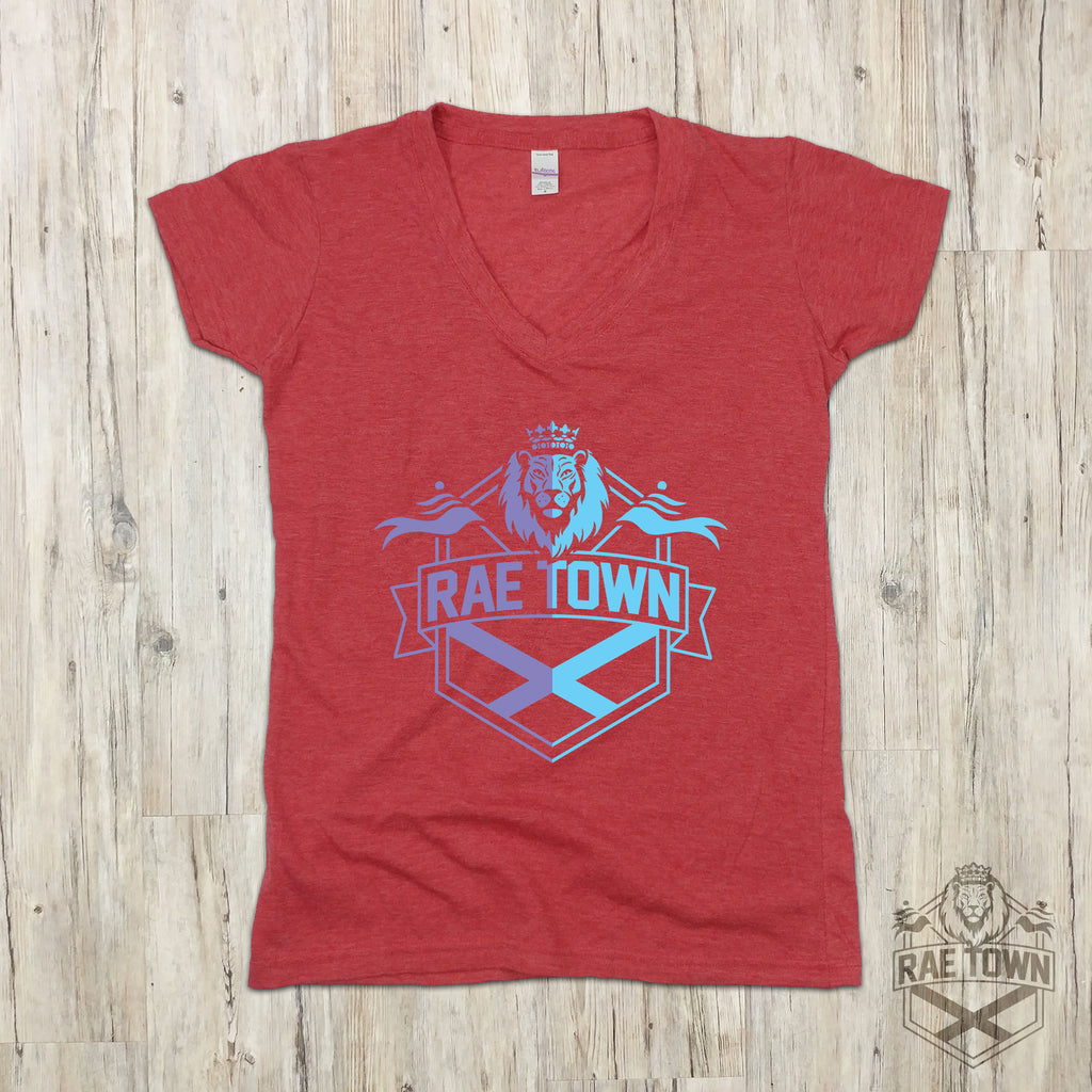 Purple and Blue Ombre Rae Town Lion Logo | Women's Garments
