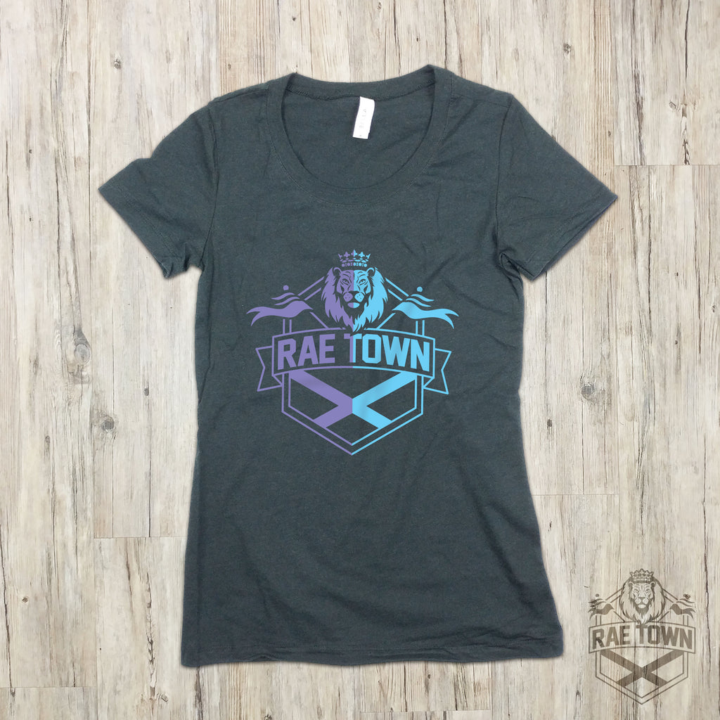 Rae Town Purple and Blue Logo