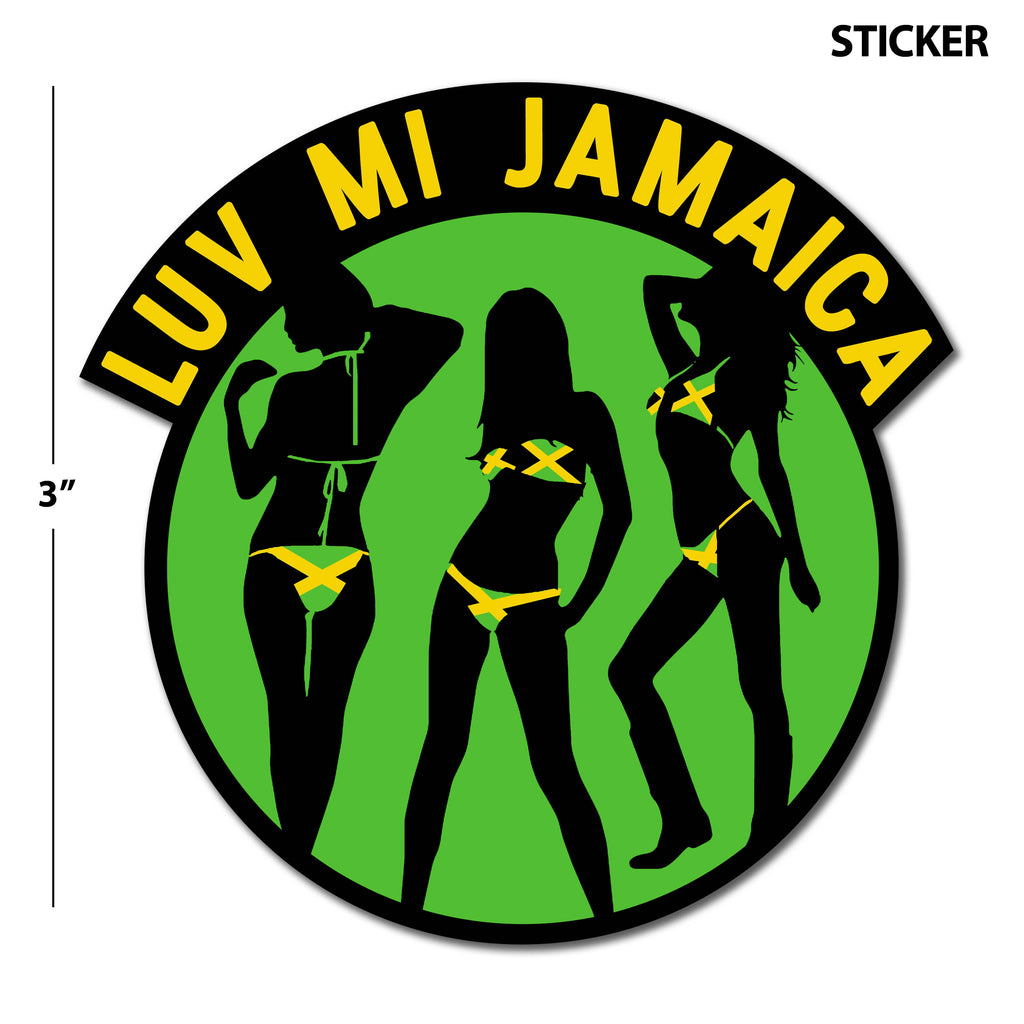 Luv Mi Jamaica Sticker