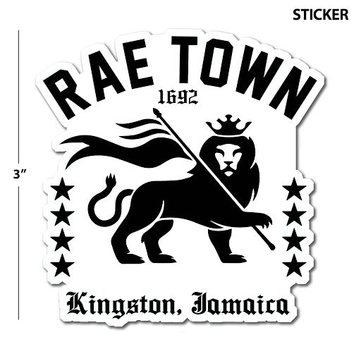 Rae Town 1692 Kingston, Jamaica Sticker