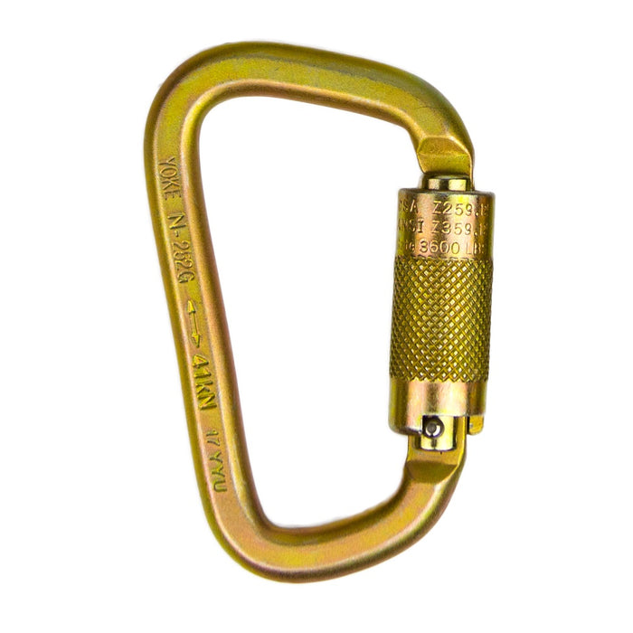 3//16 Saflok Self-Closing//Locking Steel Carabiner WIth 3600 Pound Gate