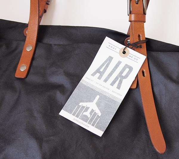 Bag with Air Luggage Tag