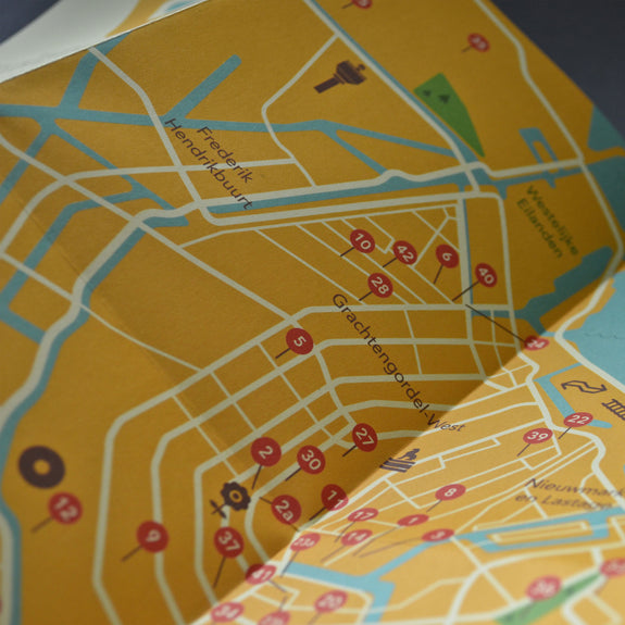 Amsterdam Travel Guide - map close-up