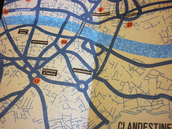 Map detail of Clandestine London Travel Guide