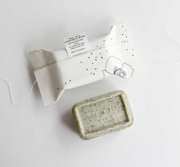 Exfoliating Poppy Soap Package + Bar