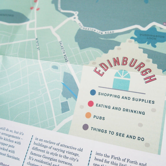 An Edinburgh Companion - City guide map detail