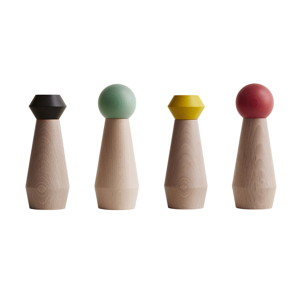salt & pepper grinders - black, mint, yellow, coral