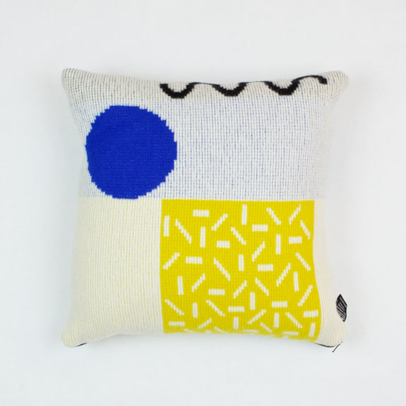 Etto Cushion in Yellow and Blue by Giannina Capitani