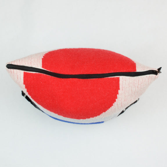 Forma Cushion in Red and Black Zip Detail