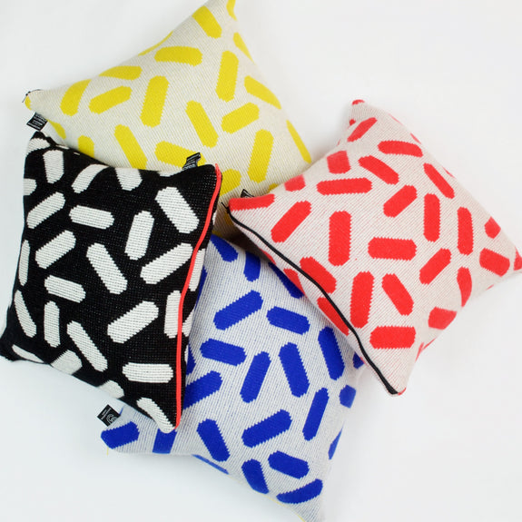 Multi-colored Tic-Tac Cushions