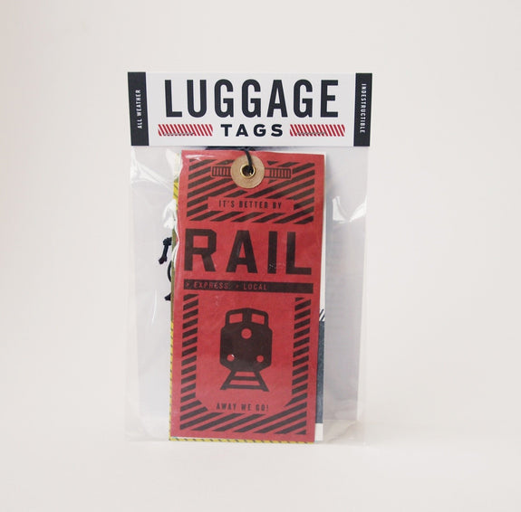 Luggage tags: air, rail, land, sea - package