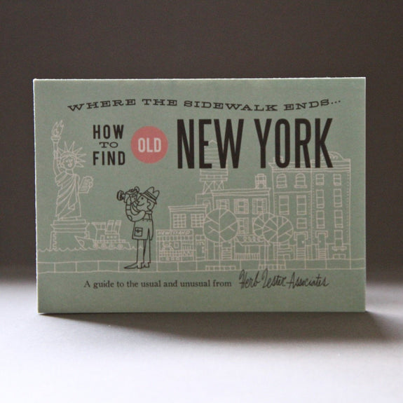 How to find Old New York - Travel Guide front cover