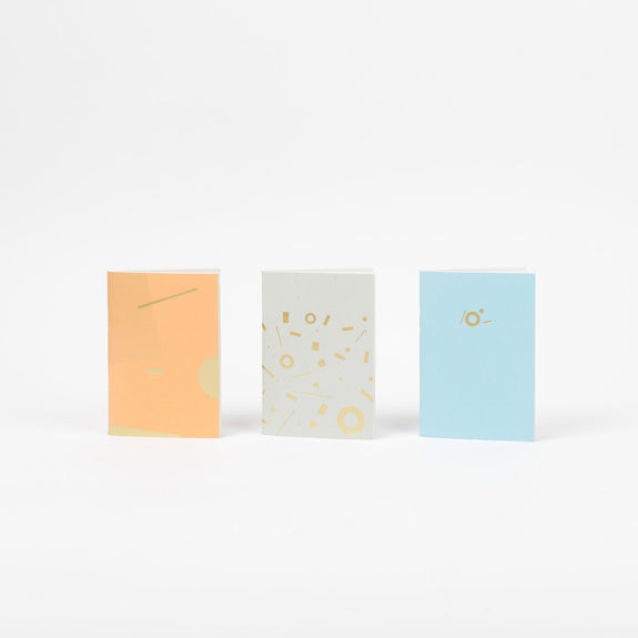 Shipwreck Pocketbook Set by Tom Pigeon in apricot,sky blue and flecked grey