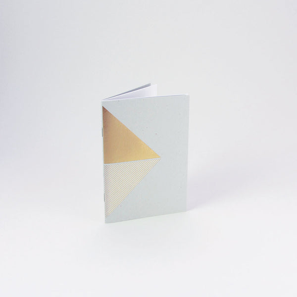 Reflex Pocketbook Brass & Grey by Tom Pigeon - standing